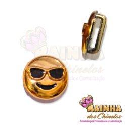 Passante ABS Emoji Sorridente Com óculos De Sol