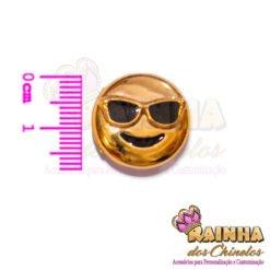 Passante ABS Emoji Sorridente Com óculos De Sol 2