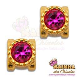 Passante Alteza Strass Rosa Pink