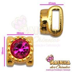 Passante Alteza Strass Rosa Pink 2