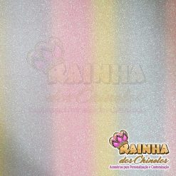 Lonita Glitter Fino Unicórnio Tons Claros