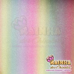 Lonita Glitter Fino Unicórnio Tons Médios