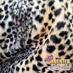 Tecido Pelúcia Leopardo Importado 15mm